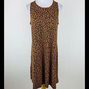 Old Navy Animal Print Sleeveless Tee Dress Sz L